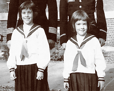 My little sis and me in our sailor suits